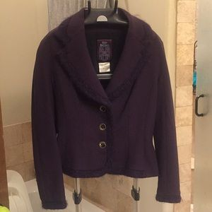 John Galliano three button wool blazer